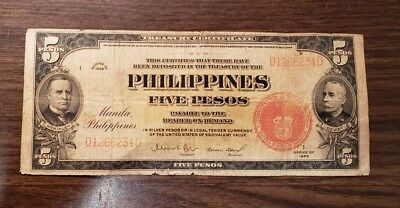 Philippines  Bank Note 1 Peso  1936
