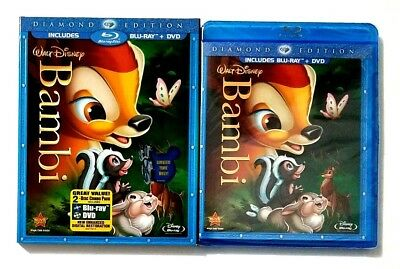 Disney Bambi (2-Disc Blu-ray/DVD, Diamond Edition) New & Sealed w/OOP Slipcover!