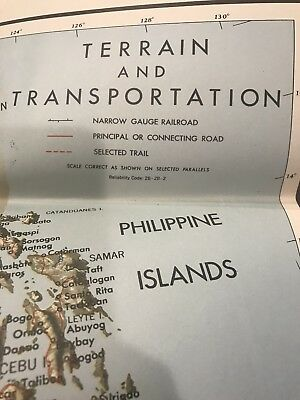 1944 Southeast Asia : Terrain And Transportation Map - Lith  A. Hoen & Co