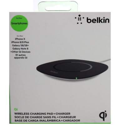 Belkin Qi WIreless Charging Pad + Charger For iPhones X 8 Plus + Tablets - Black