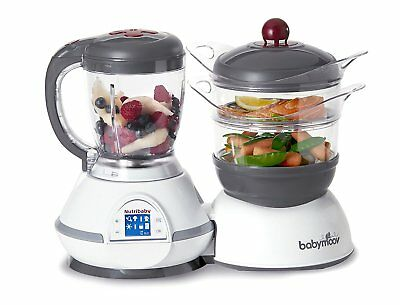 Babymoov Nutribaby - 5 in 1 Baby Food Maker with Steam Cooker, Blend & Puree, Wa