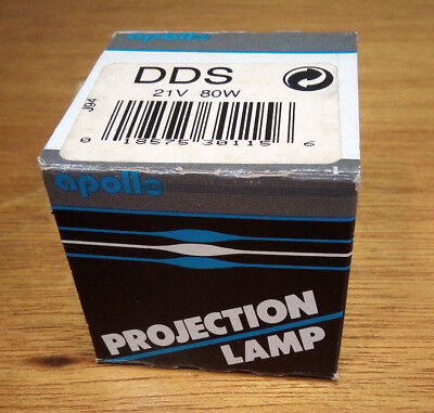 Apollo DDS  21V 80W AV/Photo Projection Lamp Projector Bulb New Old Stock USA