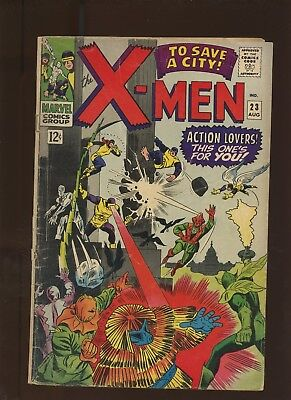 X-Men 23 GD/VG 3.0 * 1 Book Lot * To Save a City by Roy Thomas & Werner Roth!