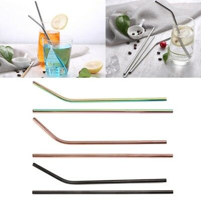 Reusable Stainless Steel Straw Metal Camping Travel Home Party Bar Accessories