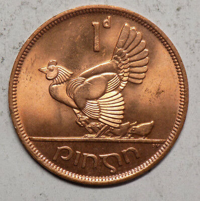 Ireland 1968 1 Penny Coin - Brilliant Uncirculated