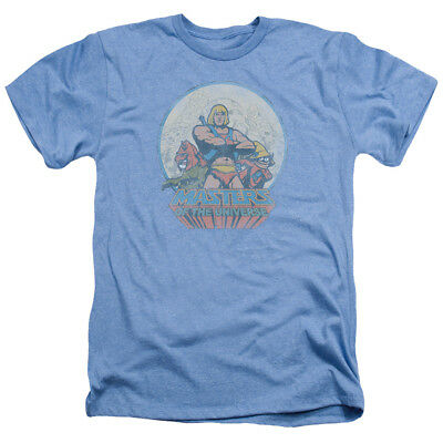 HE MAN & CREW Masters of the Universe Vintage Style Heather T-Shirt All Sizes