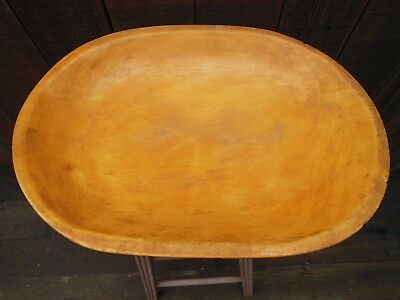 Large oval dough bowl, trencher, light-colored wood, lightweight