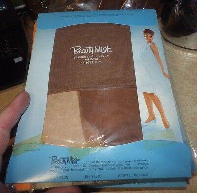 Lot Of 12 Pairs Of Vintage Nos Ladies Stockings Pantyhose Beauty Mist More