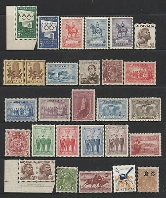 Australian Pre Decimal - Higher Value Collection of 29 Mint Stamps (628)