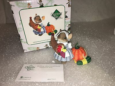 """Charming Tails """"Holding A Harvest Of Good Things For You"""" DEAN GRIFF NIB"""