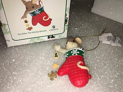 """Charming Tails """"You Bake The Holiday Sweeter"""" DEAN GRIFF NIB Christmas Ornament"""