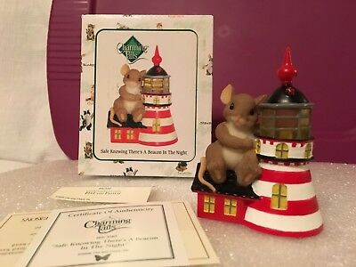 """Charming Tails """"SAFE KNOWING THERE IS A BEACON IN THE NIGHT"""" DEAN GRIFF NIB"""