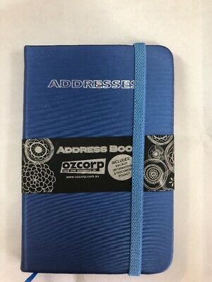 Address Book Blue Hardcover 125mm X 85mm
