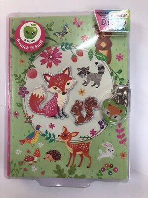 Kids Girls Fox Diary With Lock And Keys Secret A5