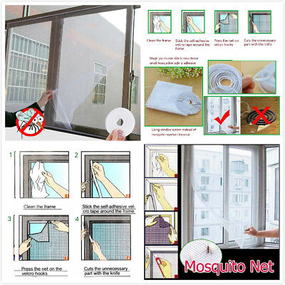 Window Screen Mesh Net Insect Fly Bug Mosquito Moth Door Netting White Color B2U