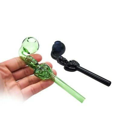 1PC Tobacco Pipe Glass Pipes Smoking Cigarette Holder Hand Pipes Gifts AU