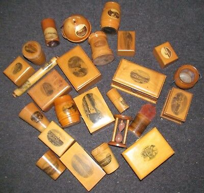 Large lot of mauchlineware