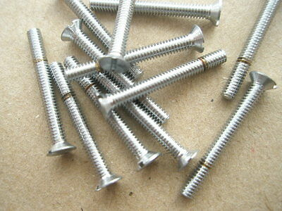 "8 BA x 3/4"" COUNTERSUNK PLATED BRASS SATIN FINISH SCREW QUANTITY 12"