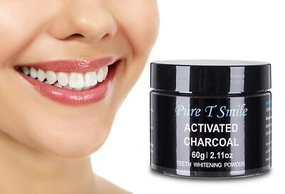 Pure T Smile 100% Natural Activated Charcoal Powder Teeth Whitener Toothpaste Po