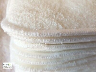 10 x Microfibre inserts/boosters for Baby Modern Cloth Nappies (MCN) Washable