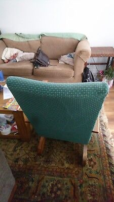 Lovely Vintage Retro Mid Century Upholstered Sprung Rocking Chair.