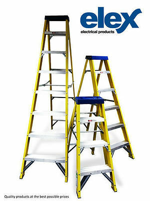 Fibreglass Step Ladders | Different Heights / Treads Available