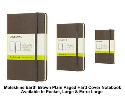 Moleskine Earth Brown Plain Paged Notebook Hard Cover (Pocket/Large/Extra Large)