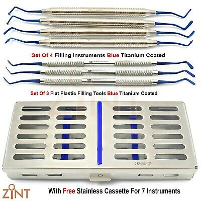 Restorative Flat Plastic Composite Filling Set Amalgam Placement Kit + Cassette