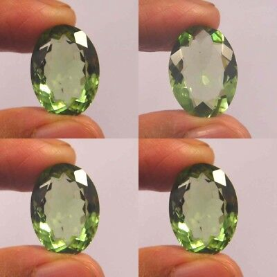 Natural Dyed Faceted Green Kunzite Quartz Cut Gemstone NF35-62 Free Shipping
