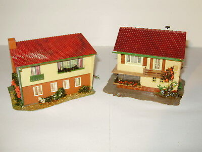 Faller suburban houses x 2. Good cond. Possibly incomplete. HO. Made in Germany