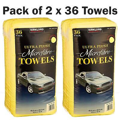 Kirkland Microfibre Ultra Plush Eurow Microfiber Car Cloth Pack of 2 x 36 Towels