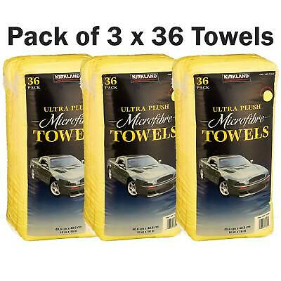 Kirkland Microfibre Ultra Plush Eurow Microfiber Car Cloth Pack of 3 x 36 Towels