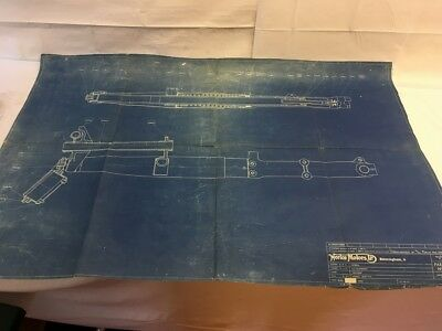 Vintage TT Manx Norton original factory blueprint roadholder forks