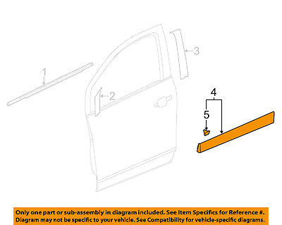 Chevrolet GM OEM 15-16 Trax Front Door-Lower Molding Trim Right 95275366