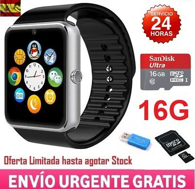 Smartwatch Reloj Inteligente Phone GT08 Android IOS Bluetooth SIM NFC + SD 16GB