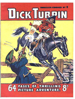 THRILLER COMICS / PICTURE LIBRARY No.8 - DICK TURPIN  -  Facsimile