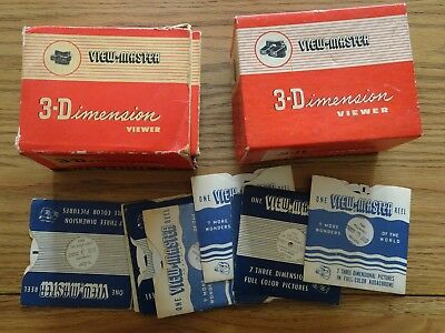 2 x Sawyers Viewmaster 3D Viewers with 13 reels of Europe