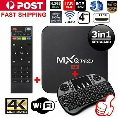 2018 MXQ PRO 4K BOX S905W 64Bit 1080P Quad-Core Android 7.1 SMART TV-BOX 2018~FR