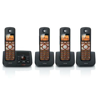 Motorola K704B DECT6.0 4-Handset Digital Cordless Phone with Answering