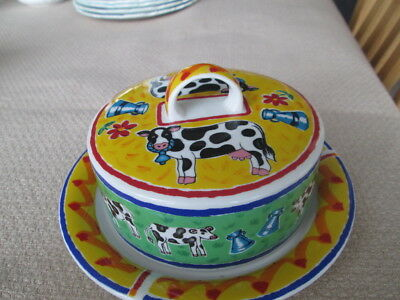Dunoon Farmyard Lidded Butter / Cheese  Dish