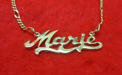 14KT GOLD EP 2MM FIGARO ANKLET OR NECKLACE WITH THE NAME LOUISE CHARM PENDANT