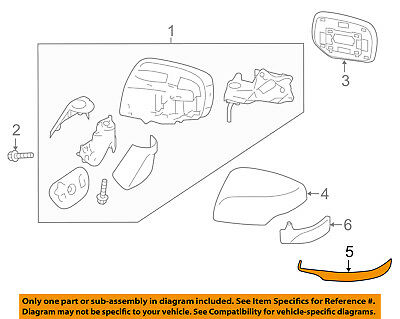 OEM 2015-2017 Subaru Left Side View Mirror Cover Legacy Outback Base 91054AL00A