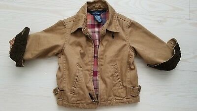 Polo Ralph Lauren Boys 12 Months Cotton Light Jacket Dark Tan