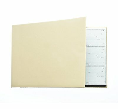 Business Check Binder for 3 On A Page Checks - 7 Ring Executive Binder with Stat