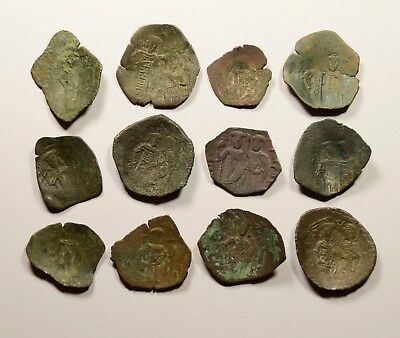 Lot Of 12 Ancient Byzantine Cup Coins - 014