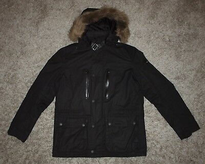 Barbour International STRUTS Waxed Jacket in Black - Large [2795]