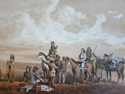 Native American Indians c.1855 lot x 12 tinted litho views American West Sarony
