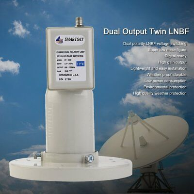 CB-01 9.75/10.6 Universal Ku-Band Twin LNBF High Gain Dual Output Twin LNBF UG
