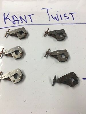 """VINTAGE KANT TWIST 1"""" CLAMPS , Lot Of 6"""