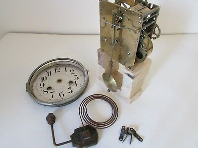 Vintage Kienzle striking clock movement - 18cm pendulum - hands, dial and gong